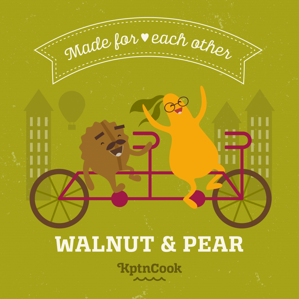 walnut and pear